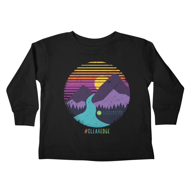 You Can Climb Mountains Kids Toddler Longsleeve T-Shirt by Clearwater Chiropractic Gear