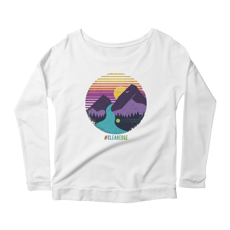 You Can Climb Mountains Women's Scoop Neck Longsleeve T-Shirt by Clearwater Chiropractic Gear