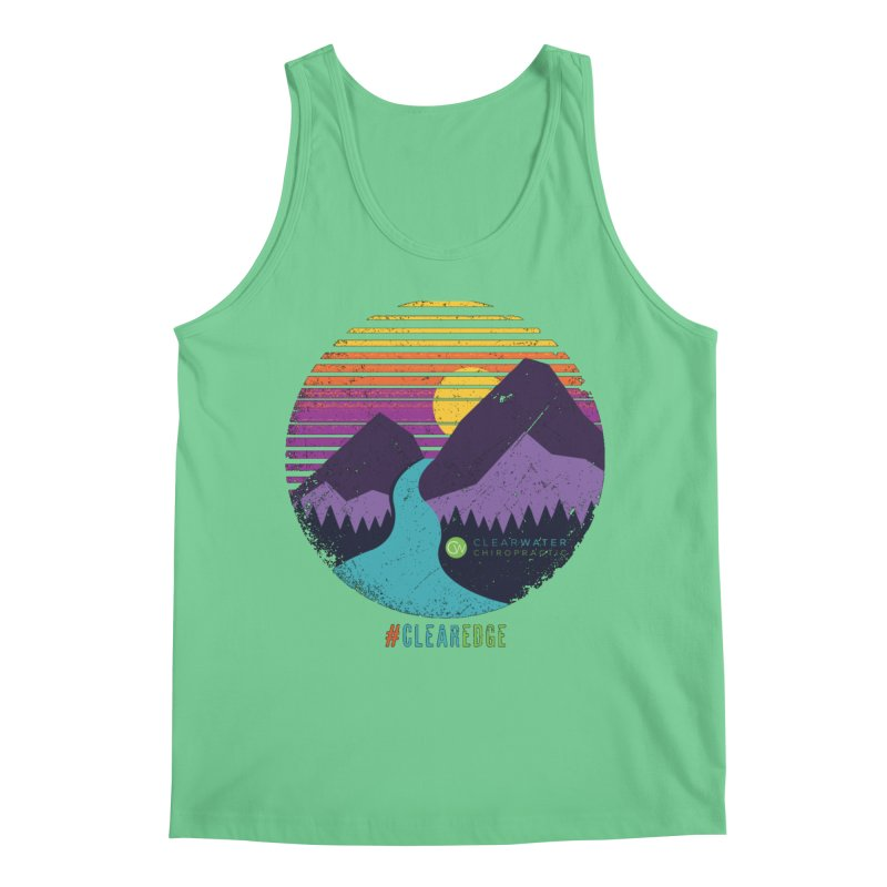 You Can Climb Mountains Men's Regular Tank by Clearwater Chiropractic Gear