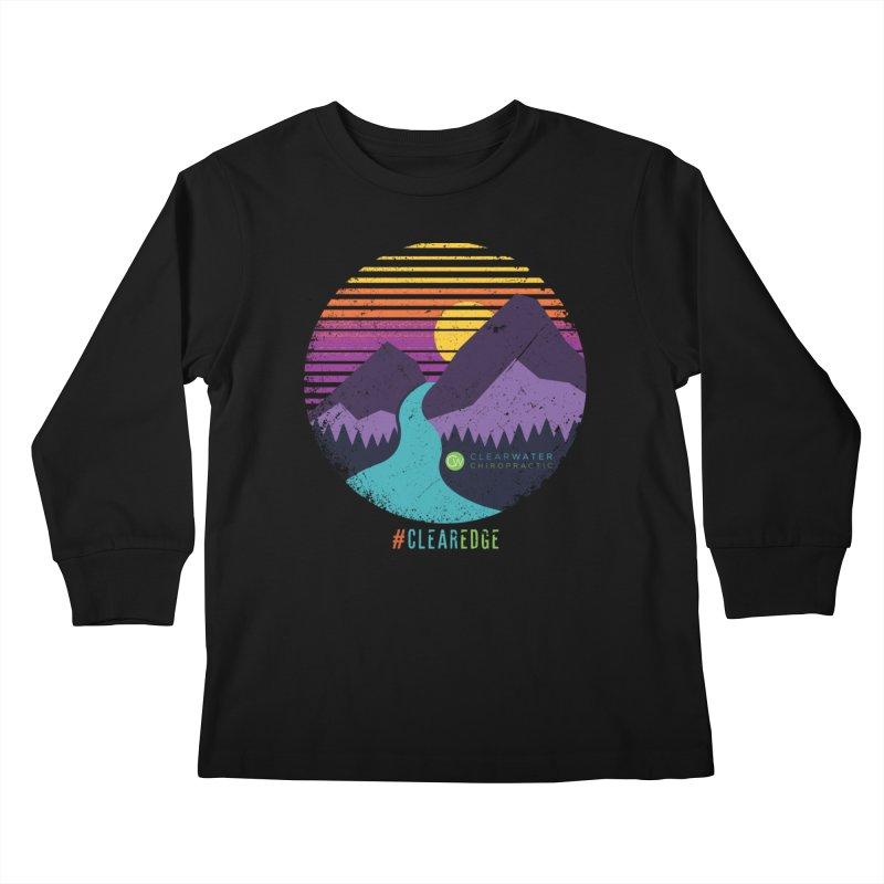 You Can Climb Mountains Kids Longsleeve T-Shirt by Clearwater Chiropractic Gear