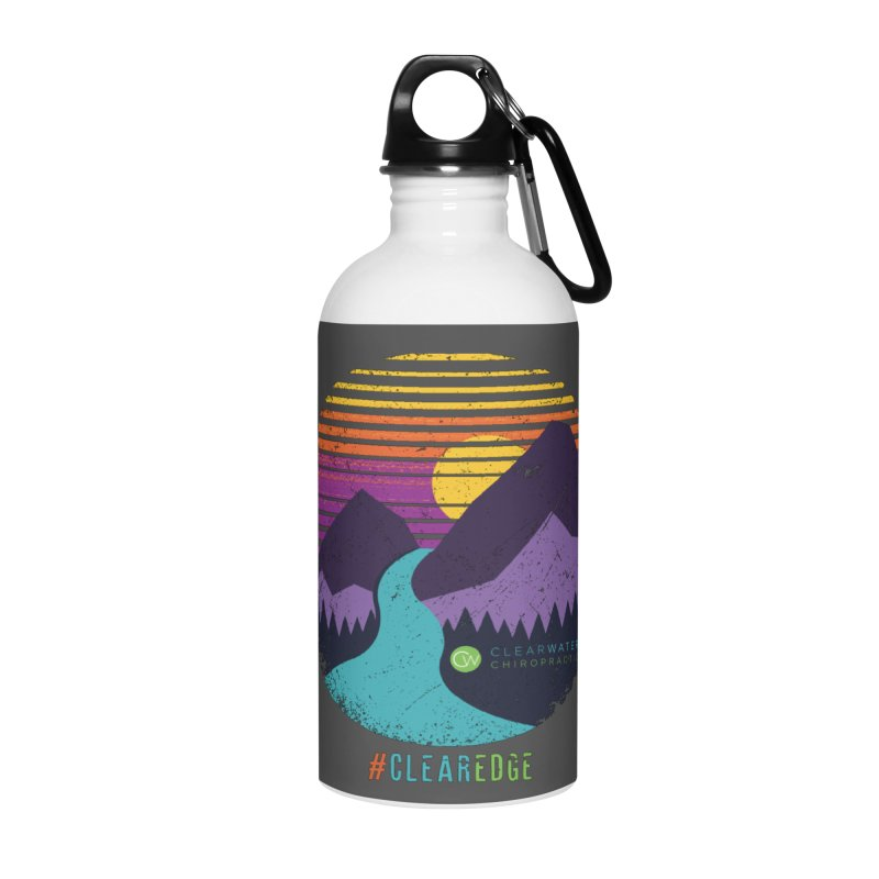 You Can Climb Mountains Accessories Water Bottle by Clearwater Chiropractic Gear