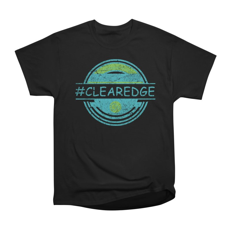 #CLEAREDGE Men's Heavyweight T-Shirt by Clearwater Chiropractic Gear