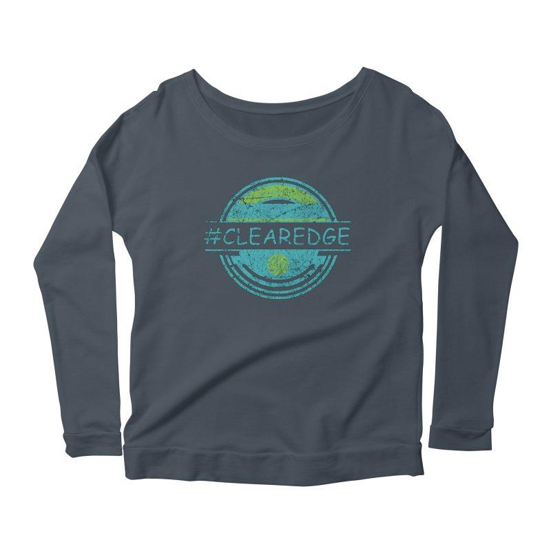 #CLEAREDGE Women's Scoop Neck Longsleeve T-Shirt by Clearwater Chiropractic Gear