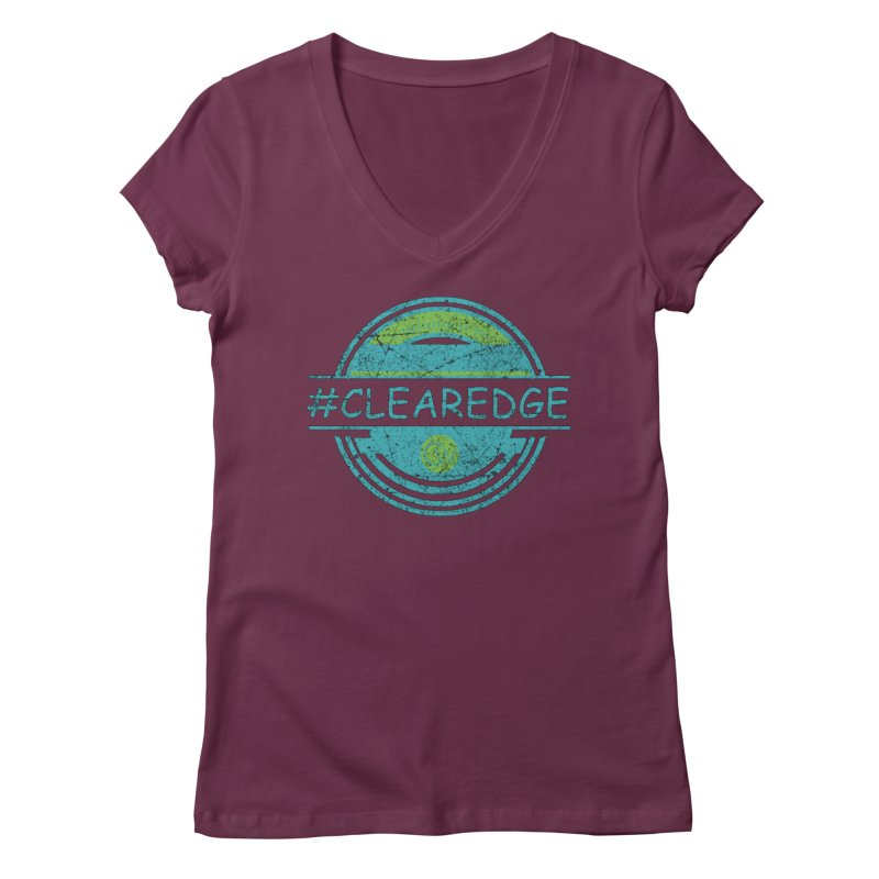 #CLEAREDGE Women's Regular V-Neck by Clearwater Chiropractic Gear
