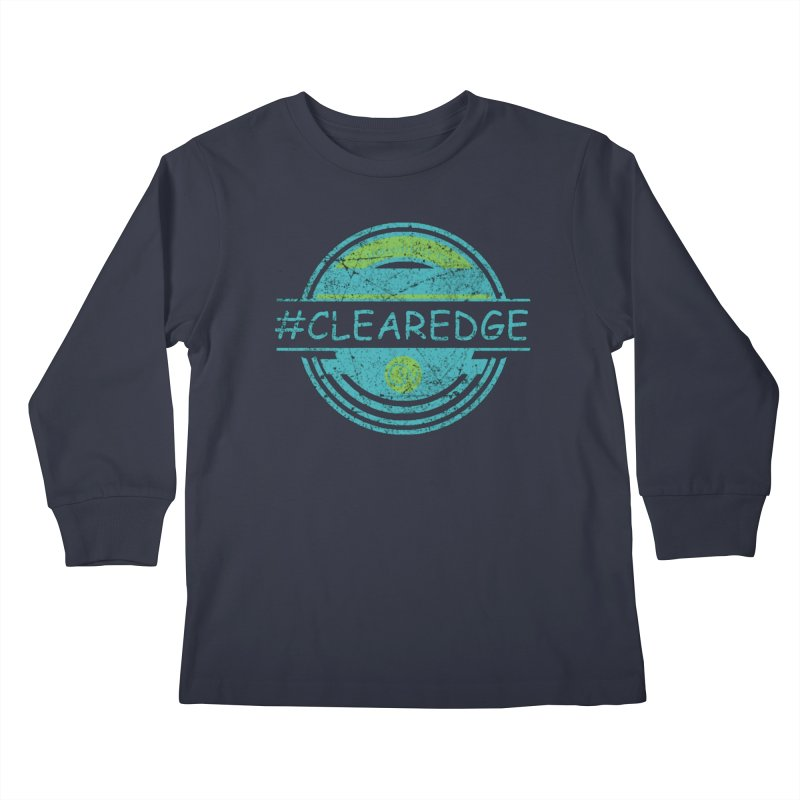 #CLEAREDGE Kids Longsleeve T-Shirt by Clearwater Chiropractic Gear