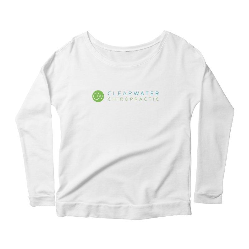 Clearwater Chiropractic Women's Scoop Neck Longsleeve T-Shirt by Clearwater Chiropractic Gear