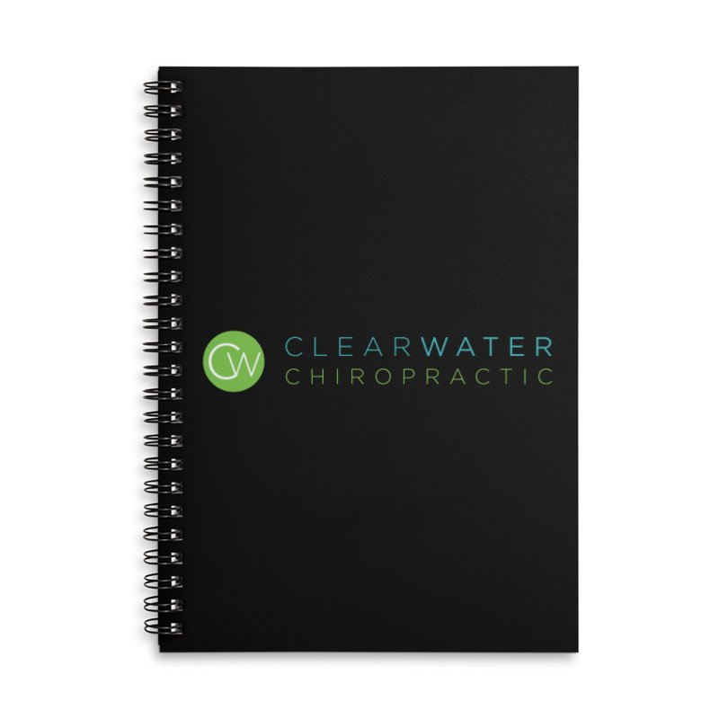 Clearwater Chiropractic Accessories Lined Spiral Notebook by Clearwater Chiropractic Gear