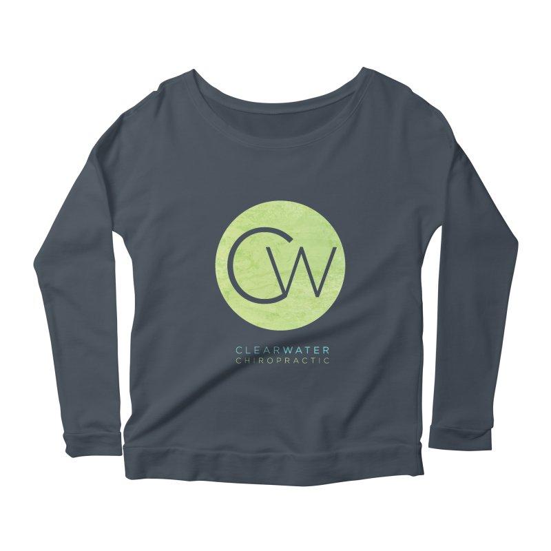 CW Women's Scoop Neck Longsleeve T-Shirt by Clearwater Chiropractic Gear