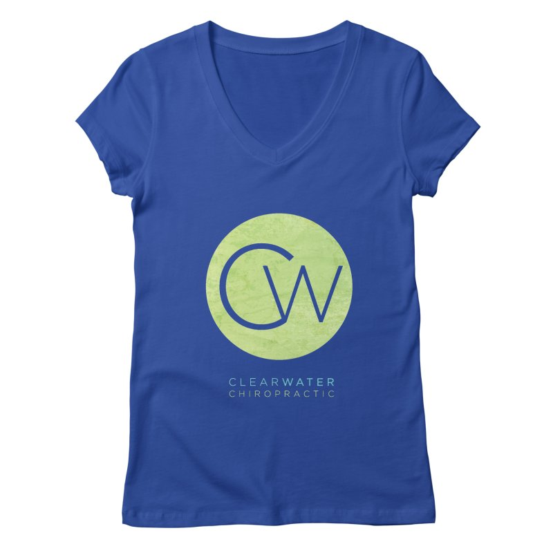 CW Women's Regular V-Neck by Clearwater Chiropractic Gear
