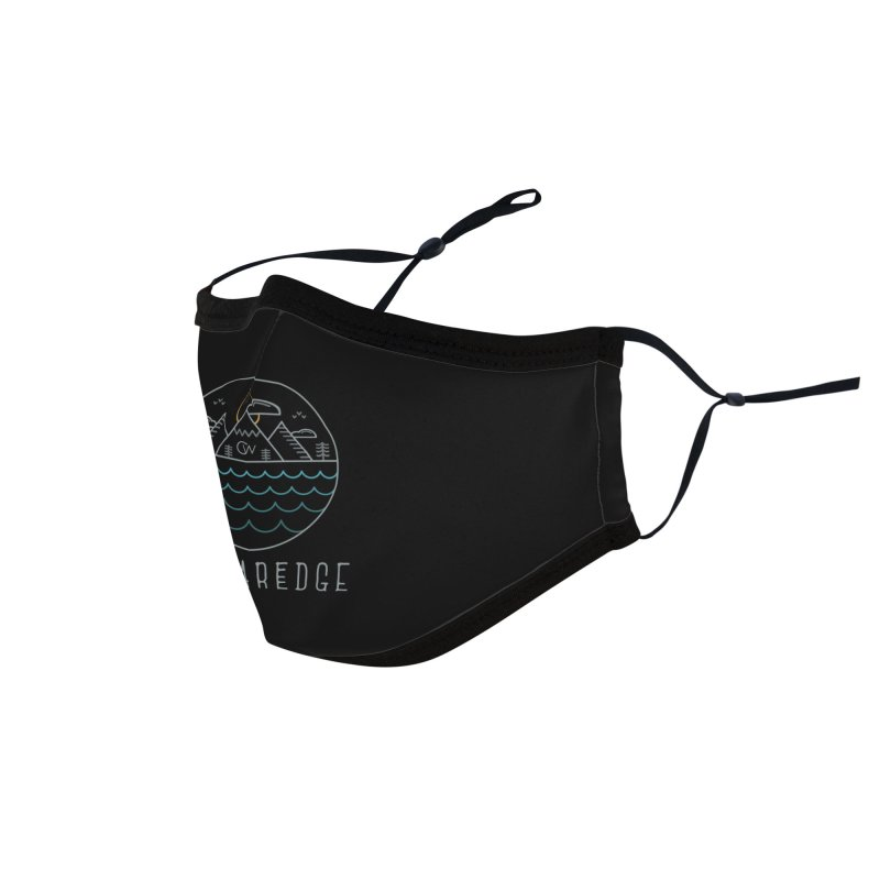 Color Clear Edge Waves Dark Clothing  Accessories Face Mask by Clearwater Chiropractic Gear