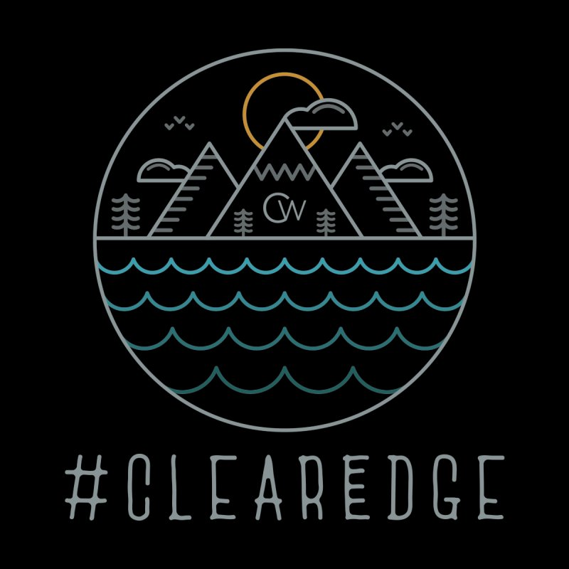 Color Clear Edge Waves Dark Clothing  by Clearwater Chiropractic Gear
