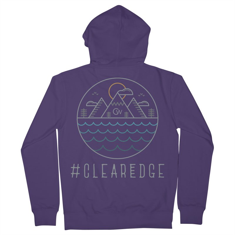 Color Clear Edge Waves Dark Clothing  Women's Zip-Up Hoody by Clearwater Chiropractic Gear