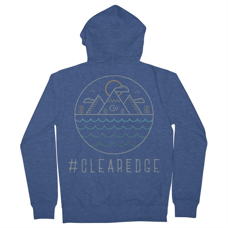 Color Clear Edge Waves Dark Clothing  Men's Zip-Up Hoody by Clearwater Chiropractic Gear