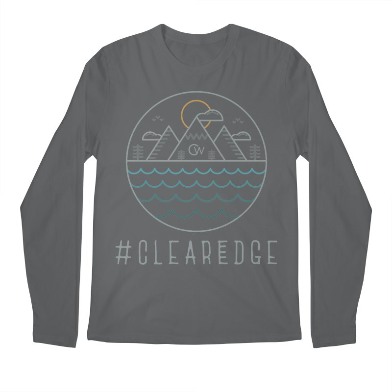 Color Clear Edge Waves Dark Clothing  Men's Regular Longsleeve T-Shirt by Clearwater Chiropractic Gear