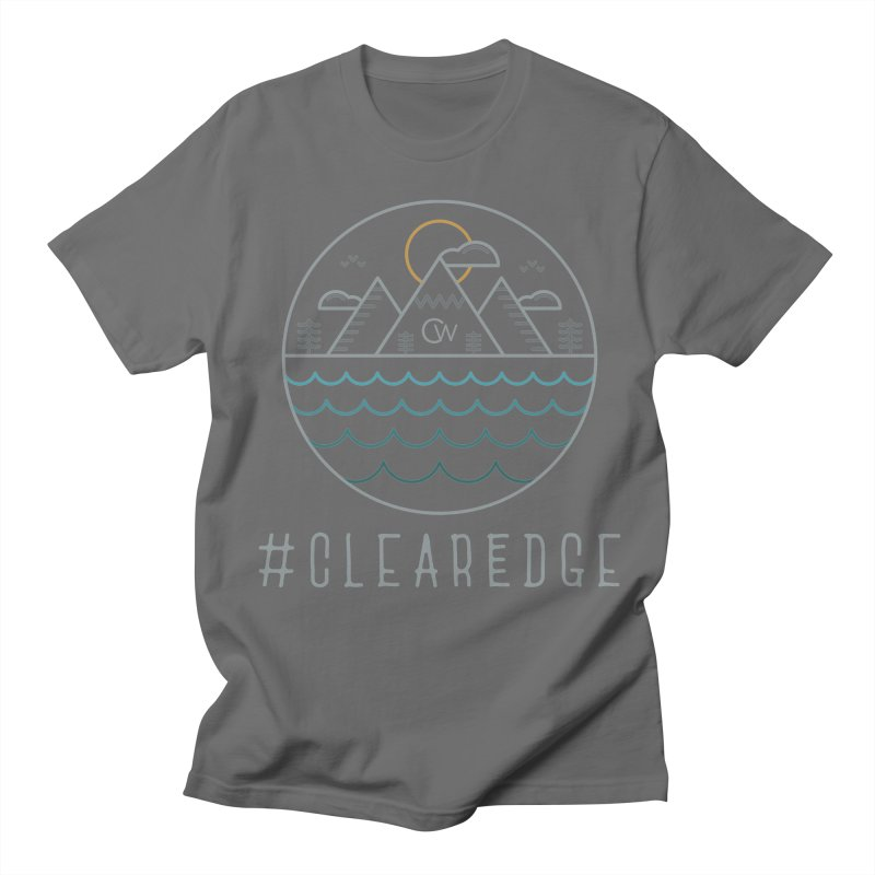 Color Clear Edge Waves Dark Clothing  Men's T-Shirt by Clearwater Chiropractic Gear