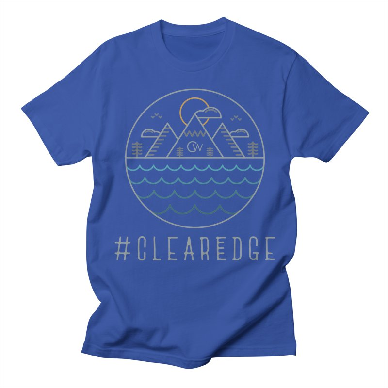 Color Clear Edge Waves Dark Clothing  Men's Regular T-Shirt by Clearwater Chiropractic Gear