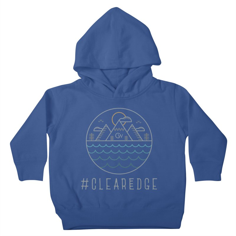 Color Clear Edge Waves Dark Clothing  Kids Toddler Pullover Hoody by Clearwater Chiropractic Gear