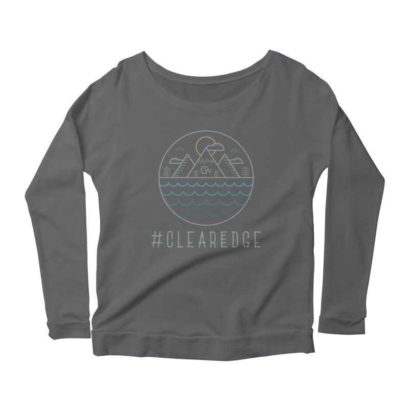 Color Clear Edge Waves Dark Clothing  Women's Longsleeve T-Shirt by Clearwater Chiropractic Gear