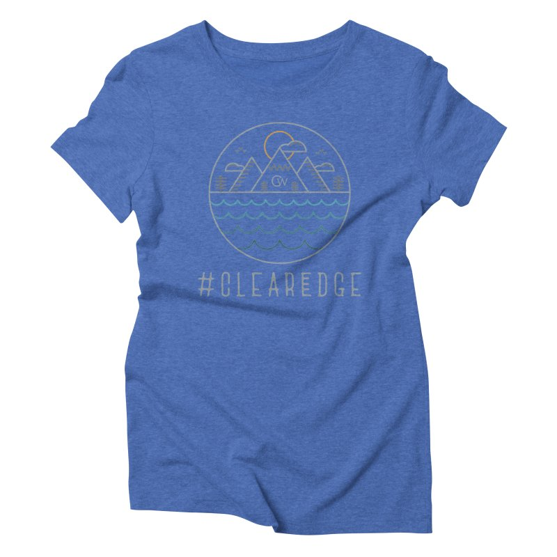 Color Clear Edge Waves Dark Clothing  Women's T-Shirt by Clearwater Chiropractic Gear