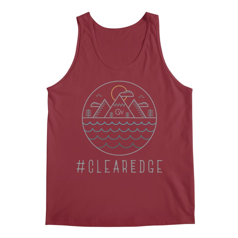 Color Clear Edge Waves Dark Clothing  Men's Regular Tank by Clearwater Chiropractic Gear