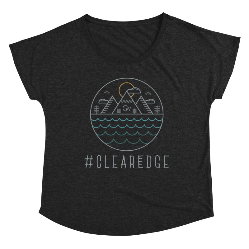 Color Clear Edge Waves Dark Clothing  Women's Scoop Neck by Clearwater Chiropractic Gear