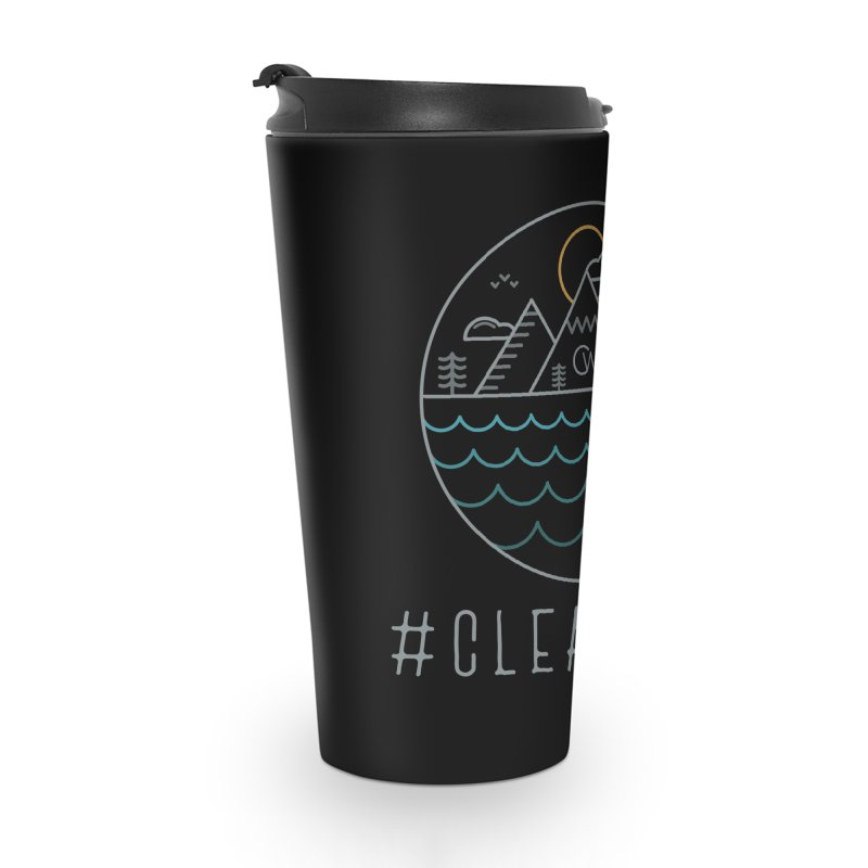 Color Clear Edge Waves Dark Clothing  Accessories Travel Mug by Clearwater Chiropractic Gear