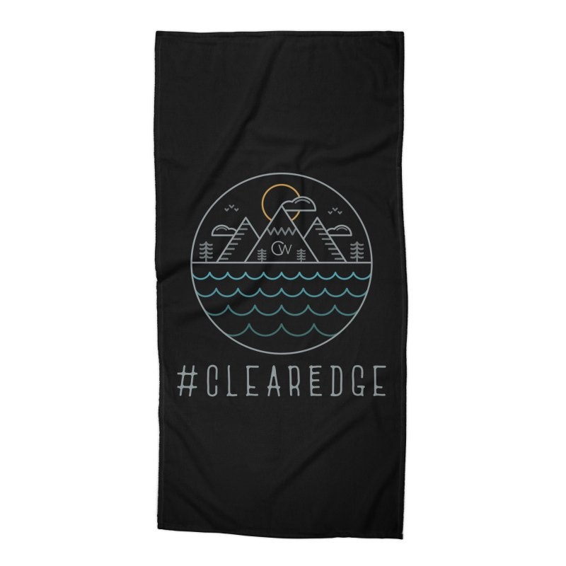 Color Clear Edge Waves Dark Clothing  Accessories Beach Towel by Clearwater Chiropractic Gear