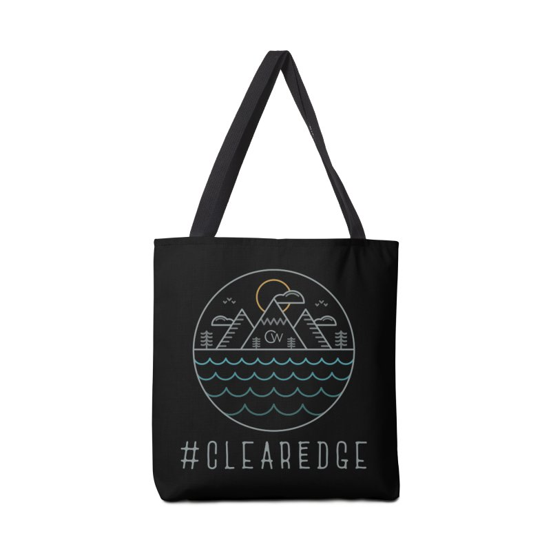 Color Clear Edge Waves Dark Clothing  Accessories Tote Bag Bag by Clearwater Chiropractic Gear