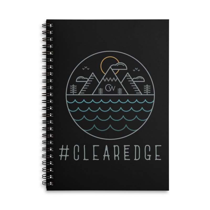 Color Clear Edge Waves Dark Clothing  Accessories Lined Spiral Notebook by Clearwater Chiropractic Gear