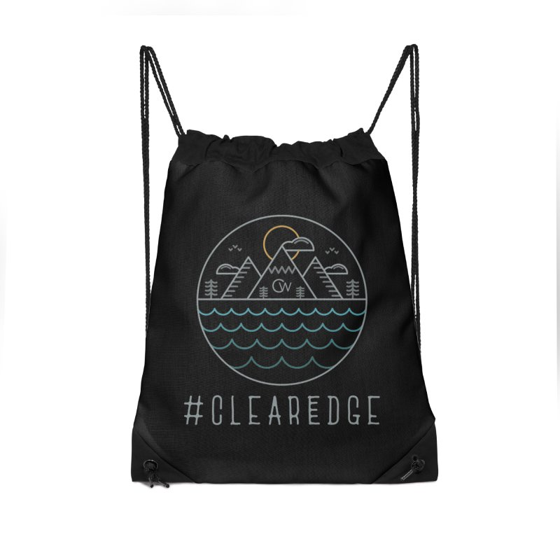 Color Clear Edge Waves Dark Clothing  Accessories Bag by Clearwater Chiropractic Gear