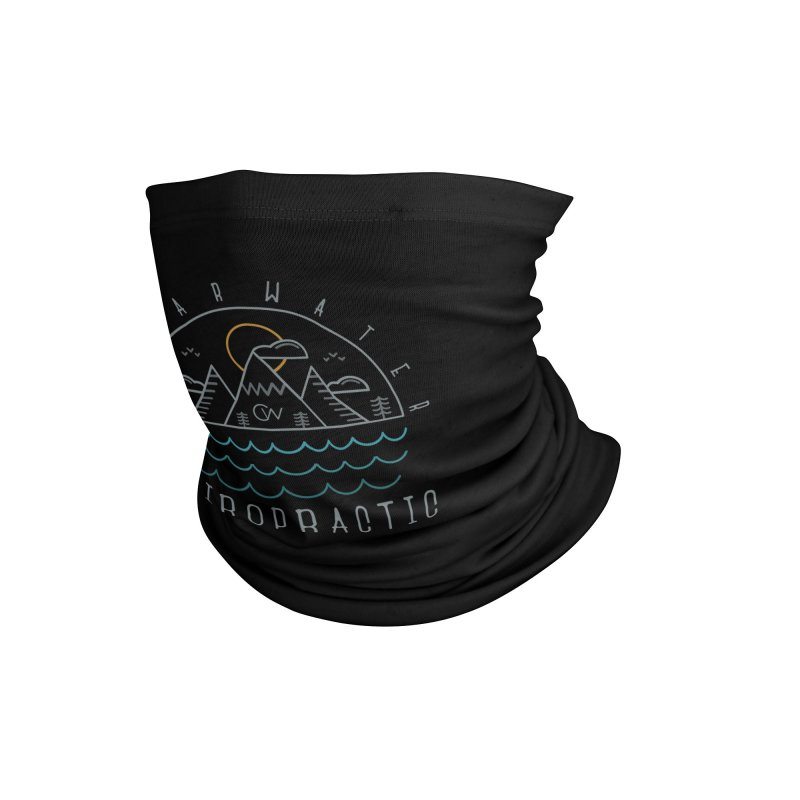 Color Clearwater Chiro Waves Dark Clothing  Accessories Neck Gaiter by Clearwater Chiropractic Gear