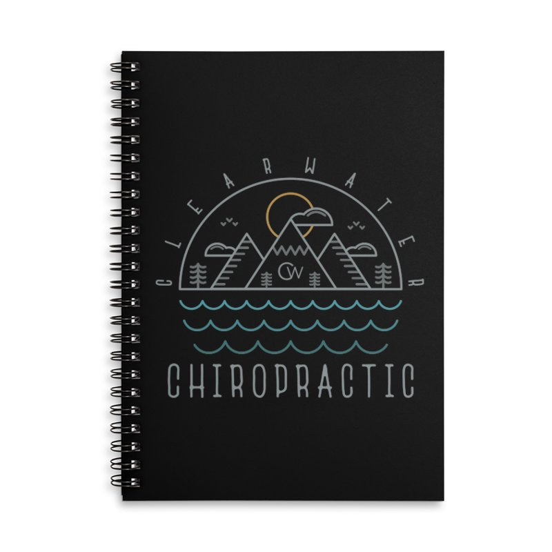 Color Clearwater Chiro Waves Dark Clothing  Accessories Lined Spiral Notebook by Clearwater Chiropractic Gear