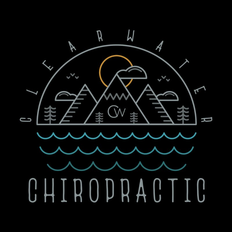 Color Clearwater Chiro Waves Dark Clothing  by Clearwater Chiropractic Gear