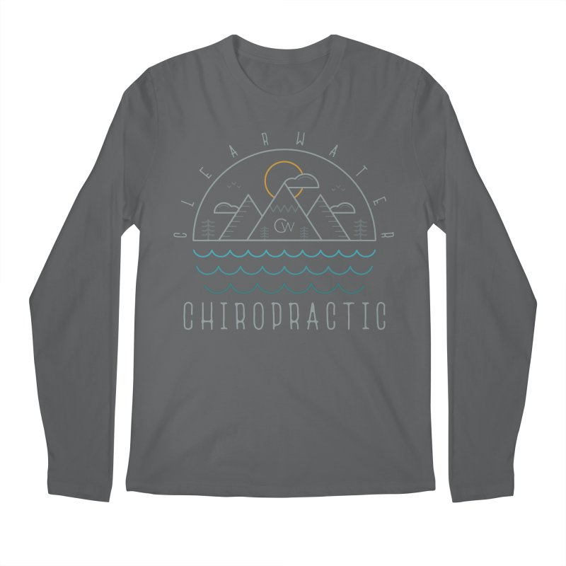 Color Clearwater Chiro Waves Dark Clothing  Men's Longsleeve T-Shirt by Clearwater Chiropractic Gear