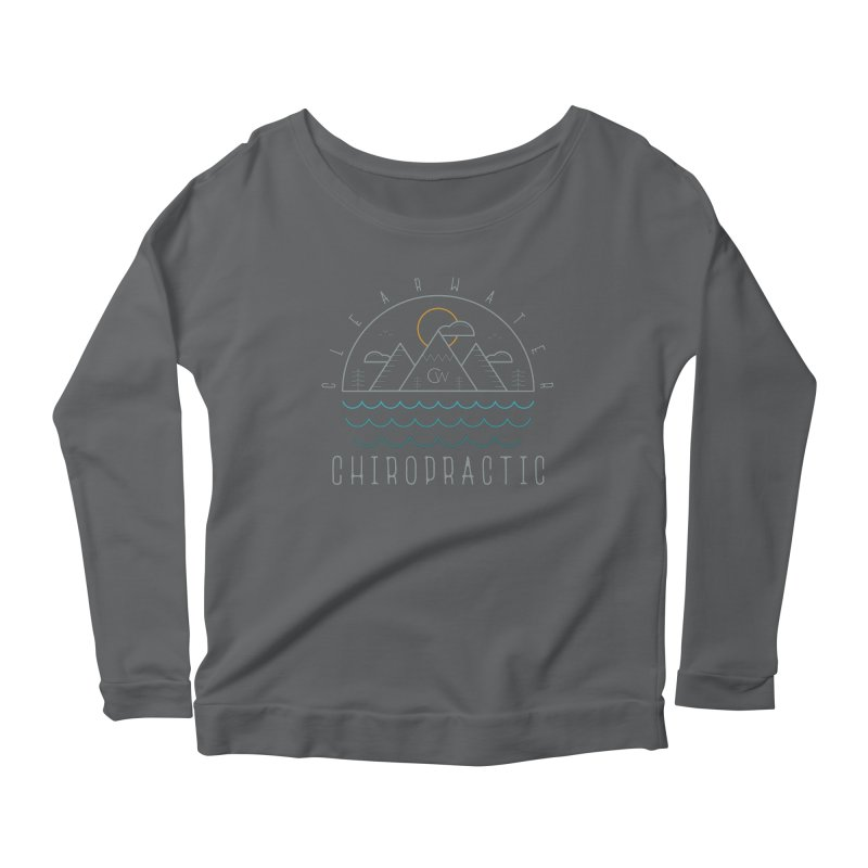 Color Clearwater Chiro Waves Dark Clothing  Women's Longsleeve T-Shirt by Clearwater Chiropractic Gear