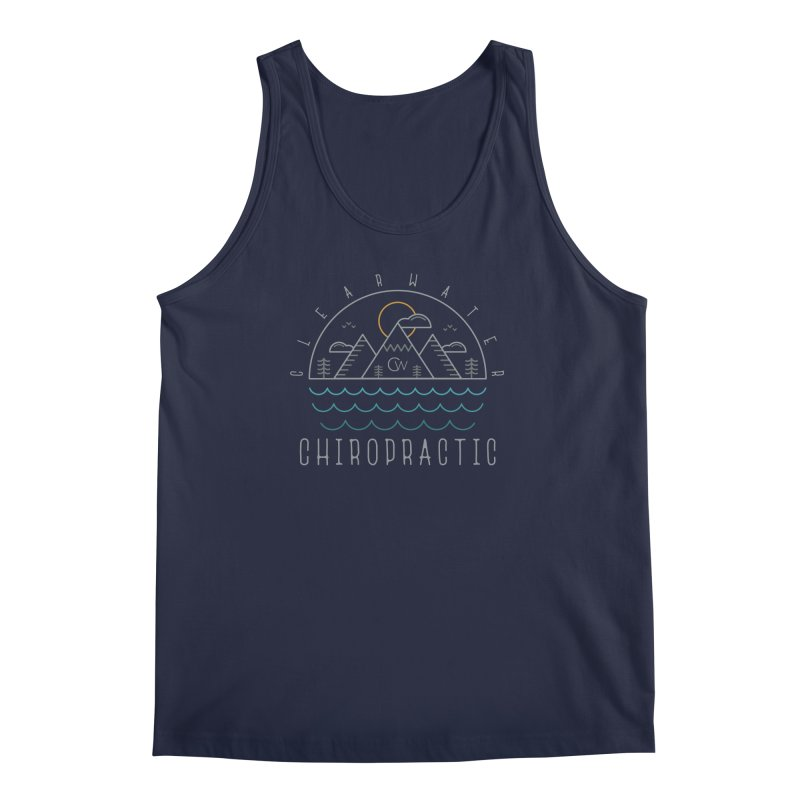 Color Clearwater Chiro Waves Dark Clothing  Men's Regular Tank by Clearwater Chiropractic Gear