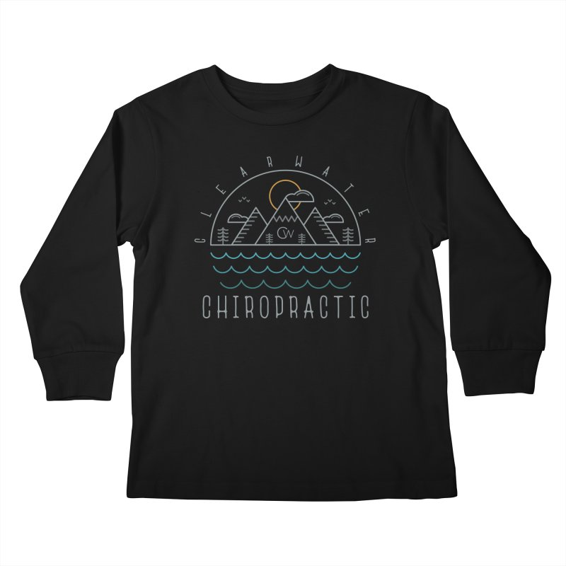 Color Clearwater Chiro Waves Dark Clothing  Kids Longsleeve T-Shirt by Clearwater Chiropractic Gear