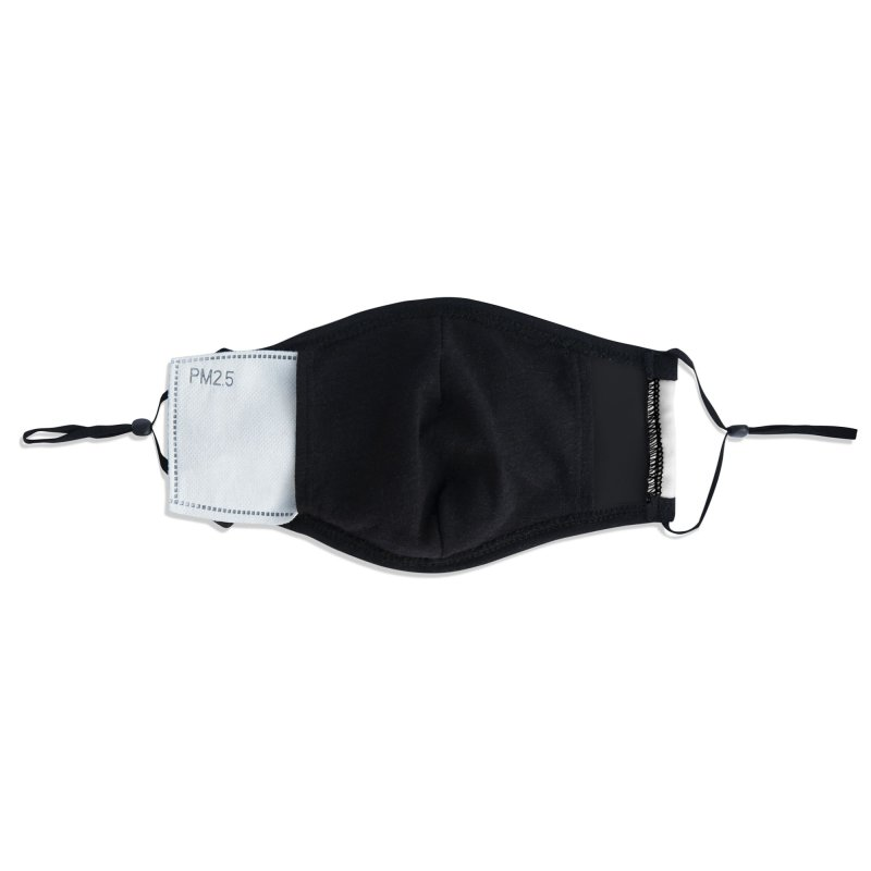 Black Clear Edge Waves Light Clothing  Accessories Face Mask by Clearwater Chiropractic Gear