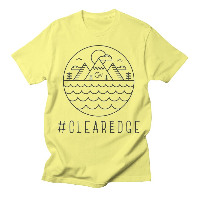 Black Clear Edge Waves Light Clothing  Men's T-Shirt by Clearwater Chiropractic Gear