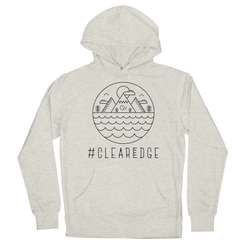 Black Clear Edge Waves Light Clothing  Women's Pullover Hoody by Clearwater Chiropractic Gear