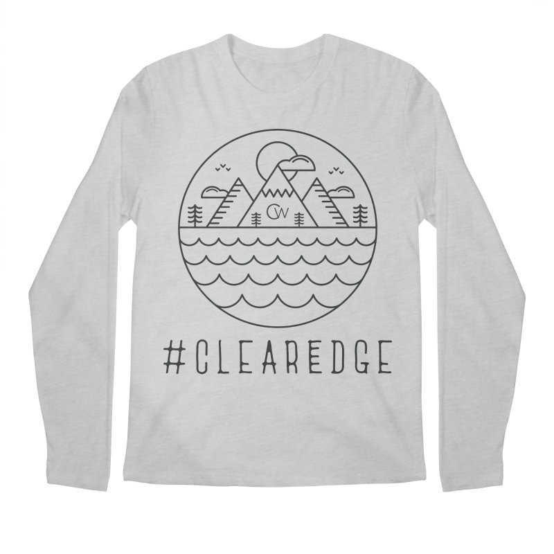 Black Clear Edge Waves Light Clothing  Men's Longsleeve T-Shirt by Clearwater Chiropractic Gear