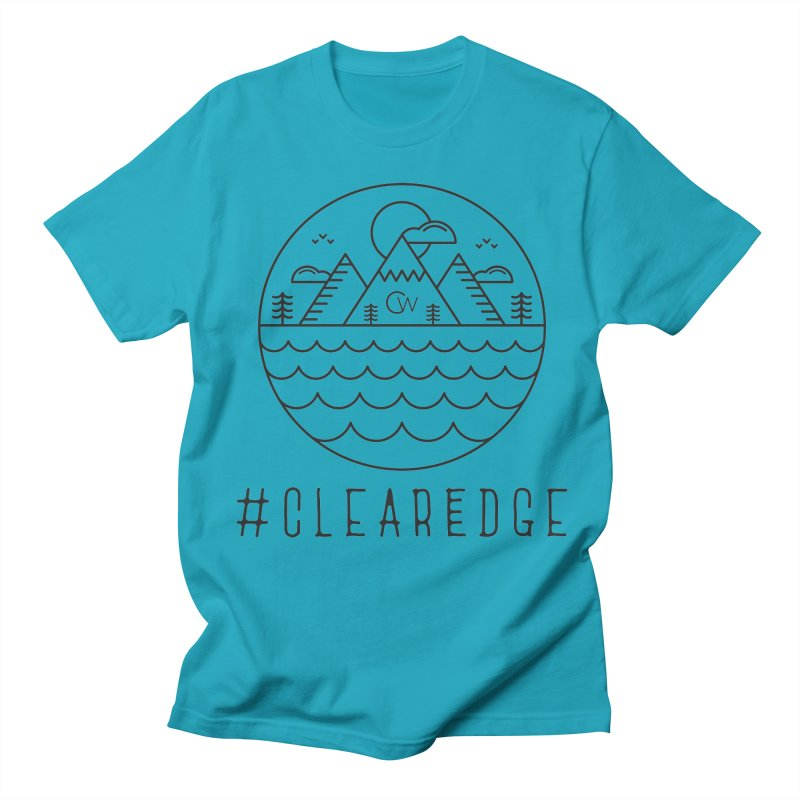 Black Clear Edge Waves Light Clothing  Men's Regular T-Shirt by Clearwater Chiropractic Gear