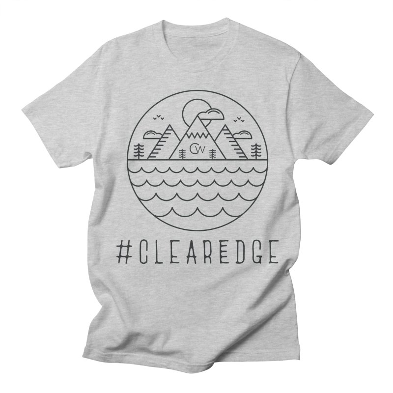 Black Clear Edge Waves Light Clothing  Women's T-Shirt by Clearwater Chiropractic Gear