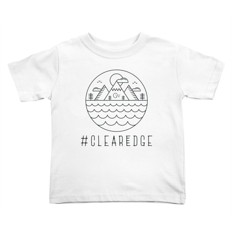 Black Clear Edge Waves Light Clothing  Kids Toddler T-Shirt by Clearwater Chiropractic Gear