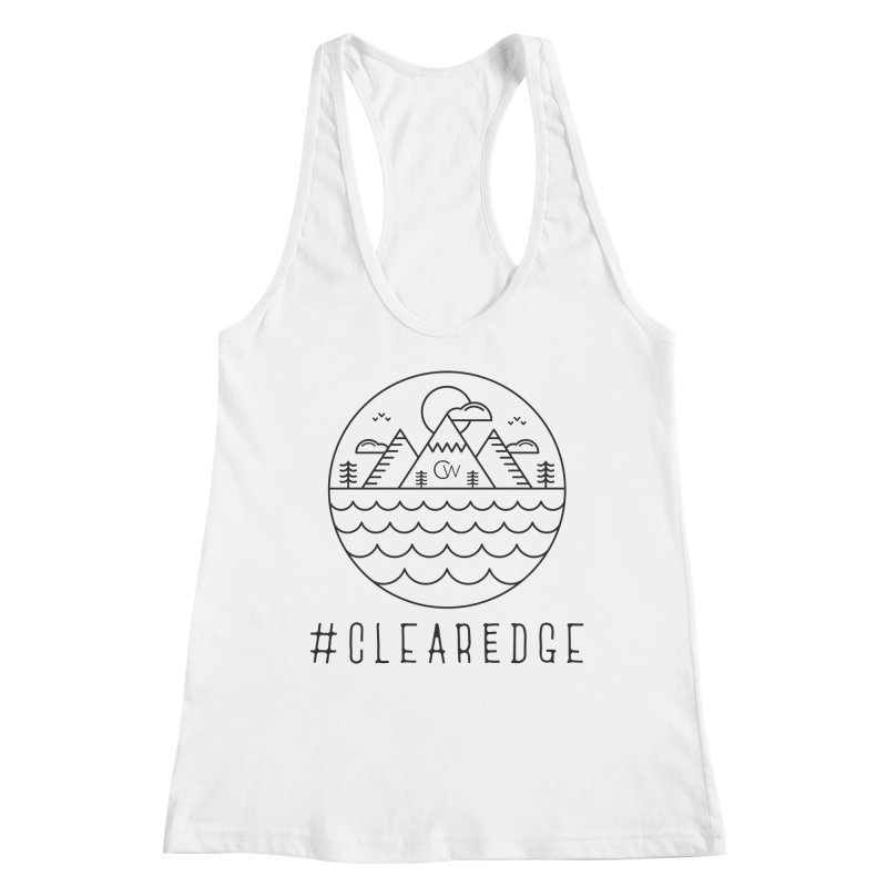 Black Clear Edge Waves Light Clothing  Women's Tank by Clearwater Chiropractic Gear
