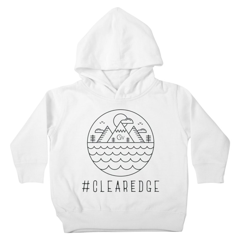 Black Clear Edge Waves Light Clothing  Kids Toddler Pullover Hoody by Clearwater Chiropractic Gear