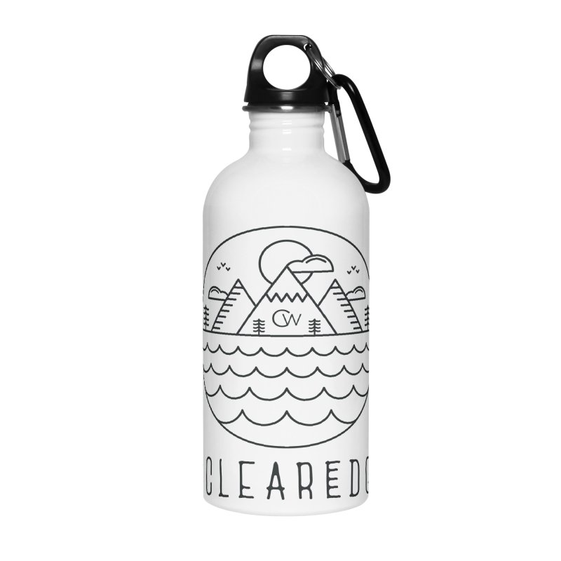 Black Clear Edge Waves Light Clothing  Accessories Water Bottle by Clearwater Chiropractic Gear