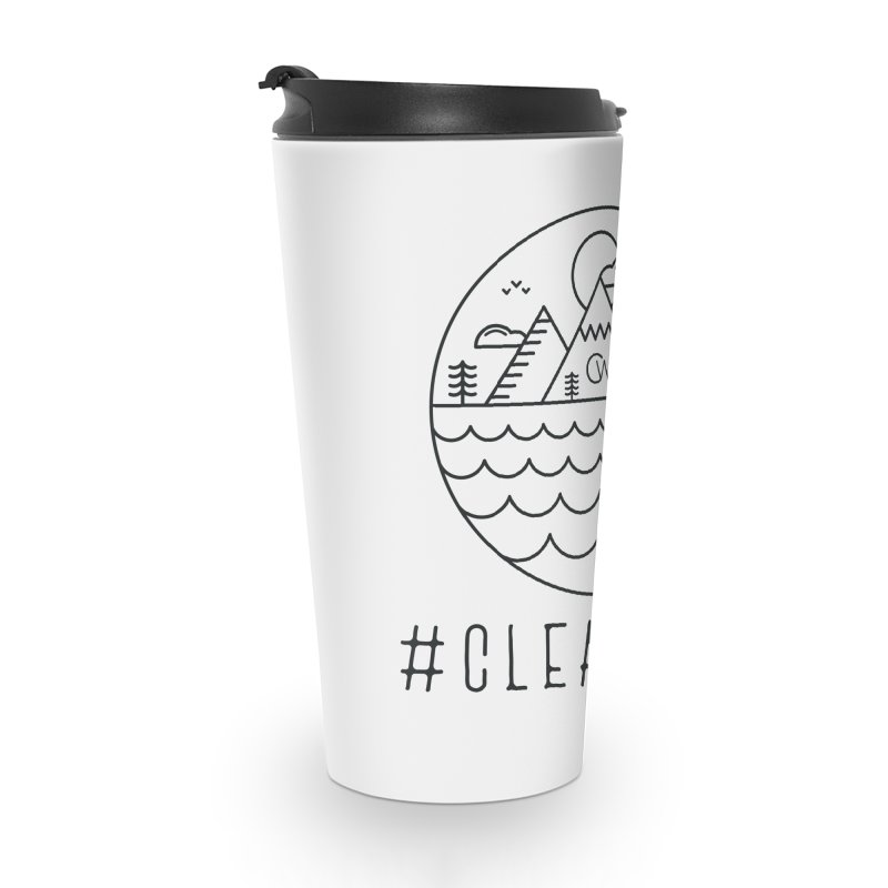 Black Clear Edge Waves Light Clothing  Accessories Mug by Clearwater Chiropractic Gear