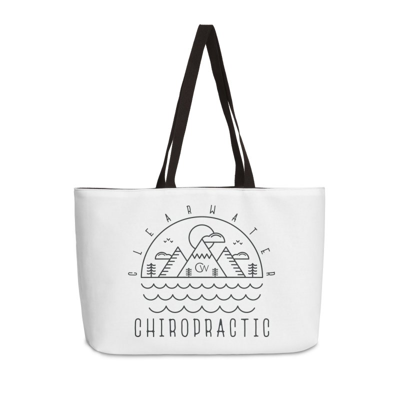 Black Clearwater Chiro Waves Light Clothing  Accessories Bag by Clearwater Chiropractic Gear