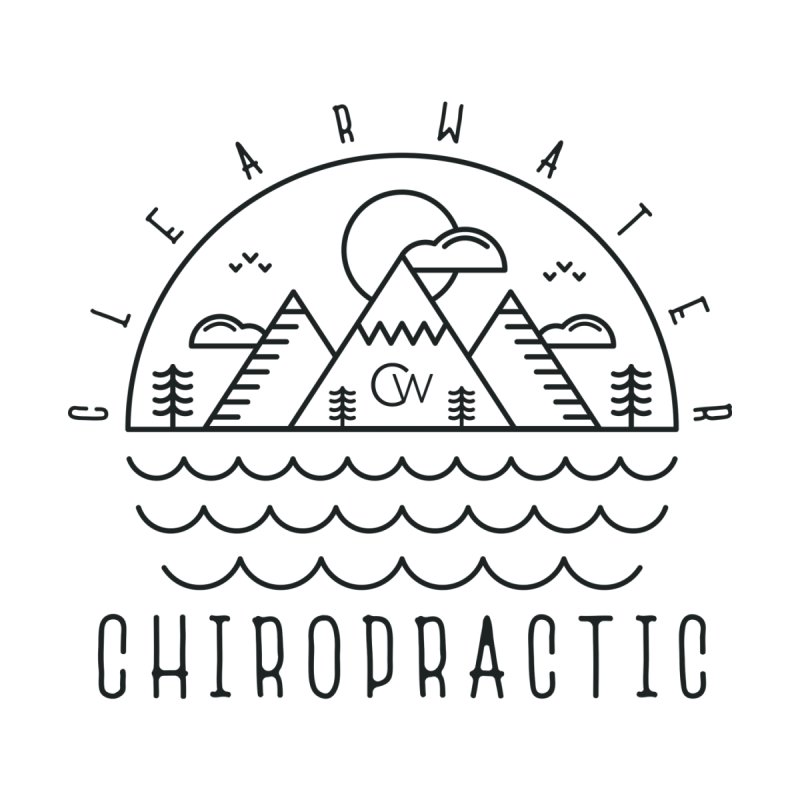 Black Clearwater Chiro Waves Light Clothing  by Clearwater Chiropractic Gear